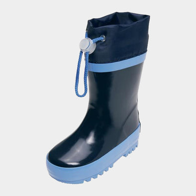 Stivali in Gomma con Coulisse Navy Blue | PLAYSHOES | RocketBaby.it