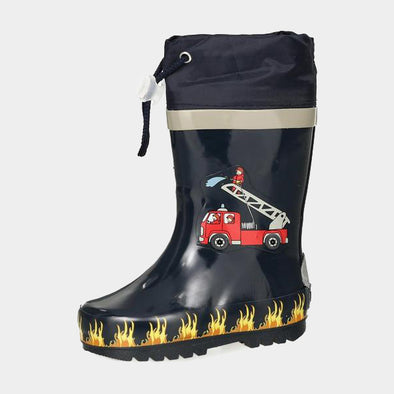 Stivali in Gomma con Coulisse Fire Brigade | PLAYSHOES | RocketBaby.it
