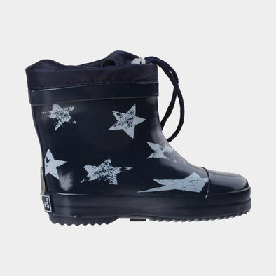 Stivali in Gomma con Coulisse Stars Lined Navy | PLAYSHOES | RocketBaby.it