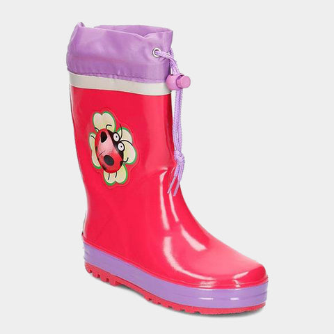 Stivali in Gomma con Coulisse Lady Bug | PLAYSHOES | RocketBaby.it