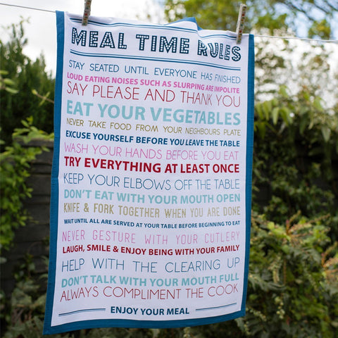 Strofinaccio Meal Time Rules | REX LONDON | RocketBaby.it