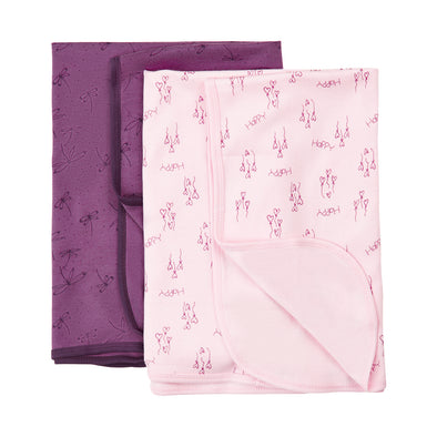 Set 2 Swaddle Deep Purple | PIPPI | RocketBaby.it