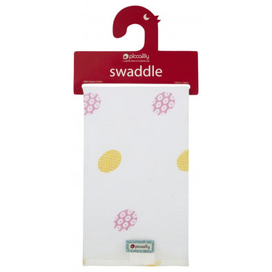 Swaddle in Mussola Daisy Spot Print | PICCALILLY | RocketBaby.it
