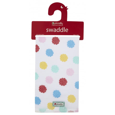 Swaddle in Mussola Nursery Floral | PICCALILLY | RocketBaby.it