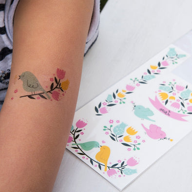 Tatuaggi Temporanei Love Birds | REX LONDON | RocketBaby.it
