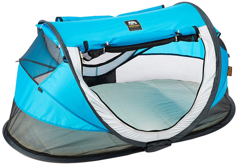 Tenda e Lettino Popup Anti UV Peuter Luxe Blue 4+ Anni | DERYAN | RocketBaby.it