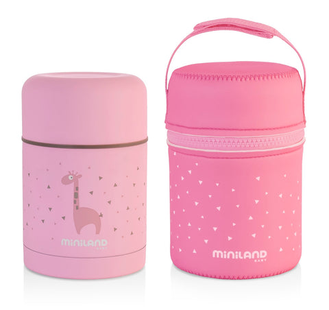 Thermos Portapappa 600 ml Pink | MINILAND | RocketBaby.it