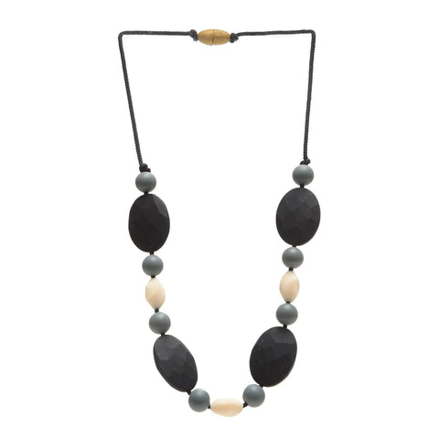 Collana da Mordere Tribeca - Black | CHEWBEADS | RocketBaby.it