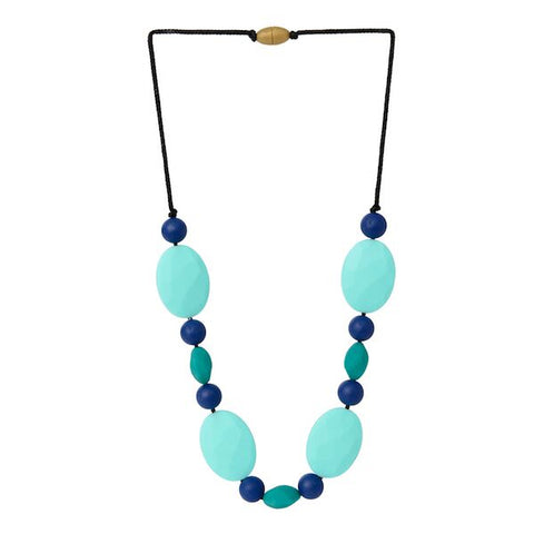 Collana da Mordere Tribeca - Turquoise | CHEWBEADS | RocketBaby.it