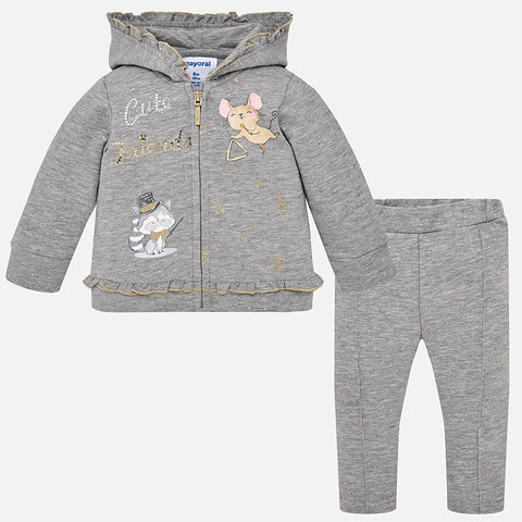 Tuta Felpa e Pantaloni Cute Friends Argento | MAYORAL | RocketBaby.it