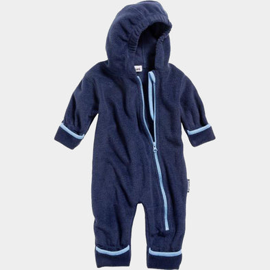 Tuta in Pile Color Contrast Navy | PLAYSHOES | RocketBaby.it