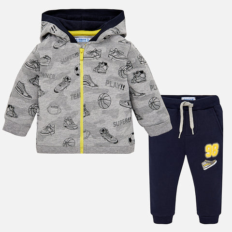 Tuta Felpa e Pantaloni Sport Antracite | MAYORAL | RocketBaby.it