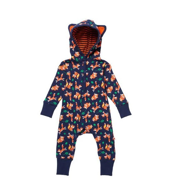 Tutina con Cappuccio Fox Print | PICCALILLY | RocketBaby.it