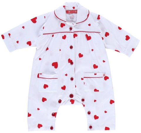 Tutina Intera Pagliaccetto Heart | PICCALILLY | RocketBaby.it