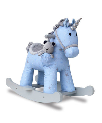 Unicorno a Dondolo con Pupazzo nel Taschino Moonbeam and Rae | LITTLE BIRD TOLD ME | RocketBaby.it
