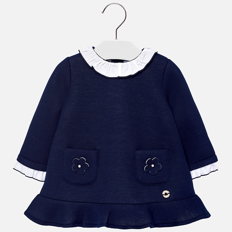 Vestito con Colletto Blu Navy | MAYORAL | RocketBaby.it