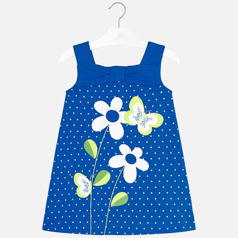 Vestito Senza Maniche Farfalla Blu Intenso | MAYORAL | RocketBaby.it