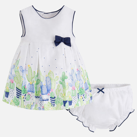 Vestito Stampato e Culotte Fiori Navy | MAYORAL | RocketBaby.it
