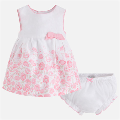 Vestito Stampato e Culotte Fiori Rosa | MAYORAL | RocketBaby.it