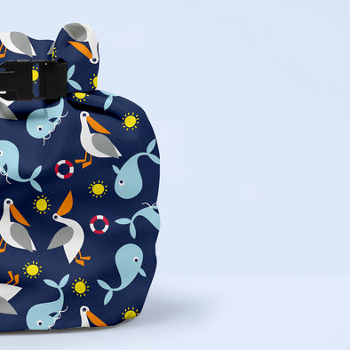Wet Nappy Bag Portapannolini Nautical | BAMBINO MIO | RocketBaby.it