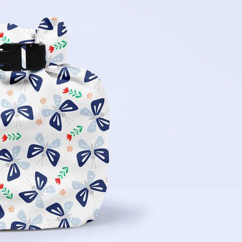 Wet Nappy Bag Portapannolini Butterfly Bloom | BAMBINO MIO | RocketBaby.it