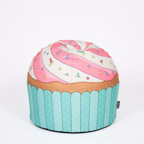 Pouf Bean Bag Cupcake Blue - RocketBaby - 1
