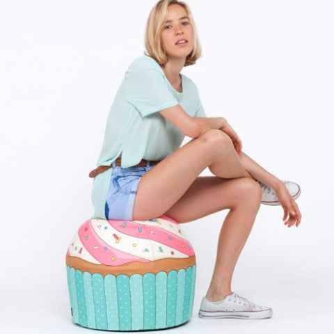 Pouf Bean Bag Cupcake Blue - RocketBaby - 2
