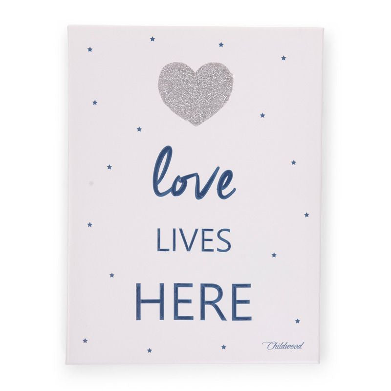 Dipinto ad olio Love lives here - RocketBaby - 1