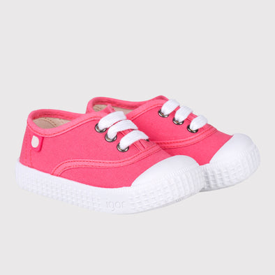 Scarpe in Tela con Stringhe Berri Bubblegum | IGOR SHOES | RocketBaby.it