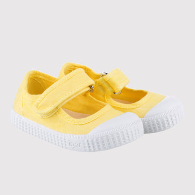 Scarpe in Tela con strap Irene Giallo | IGOR SHOES | RocketBaby.it