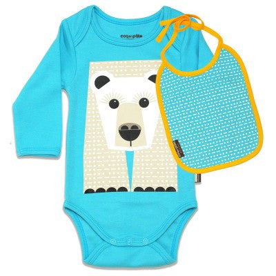 Kit body e bavaglino Orso bianco | COQ EN PATE | RocketBaby.it