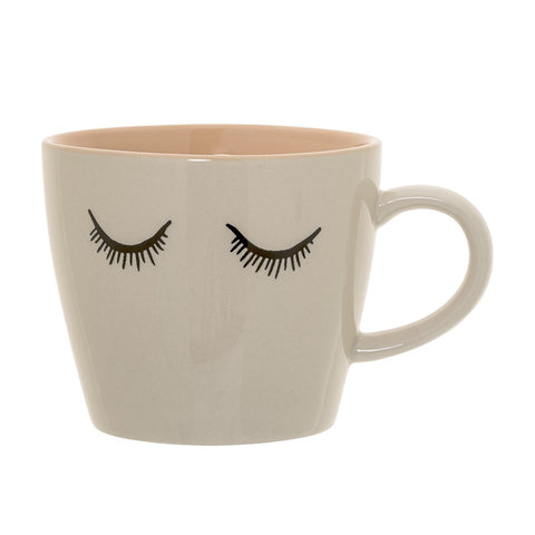 Mug in Gres Occhioni Cipria e Rosa | BLOOMINGVILLE | RocketBaby.it