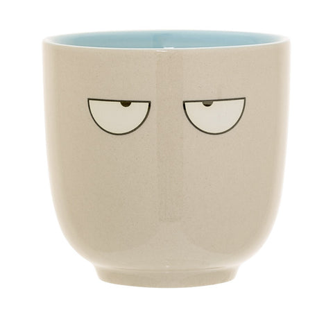 Tazza in Gres Occhi Tortora  e Blu | BLOOMINGVILLE | RocketBaby.it