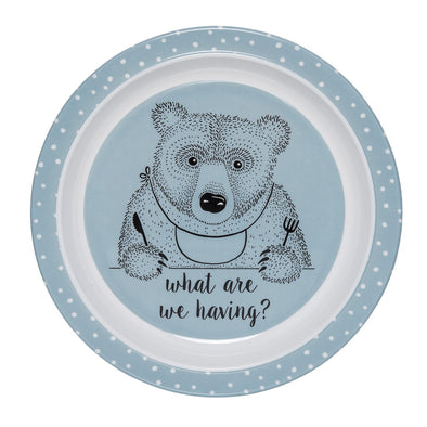 Piatto Blu Orso che Mangia | BLOOMINGVILLE | RocketBaby.it