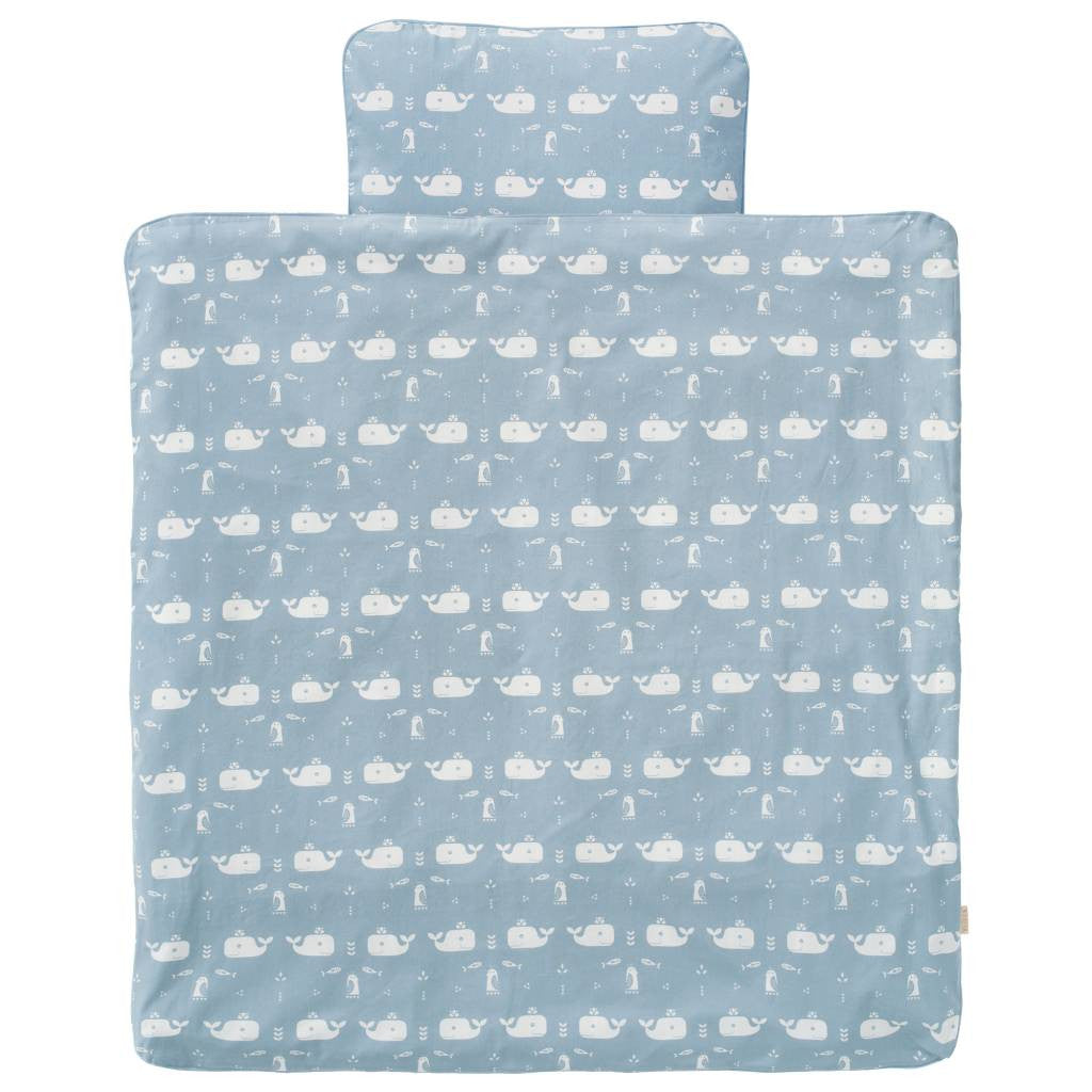 Set Copripiumino Balena blu 100x135 | KUK | RocketBaby.it
