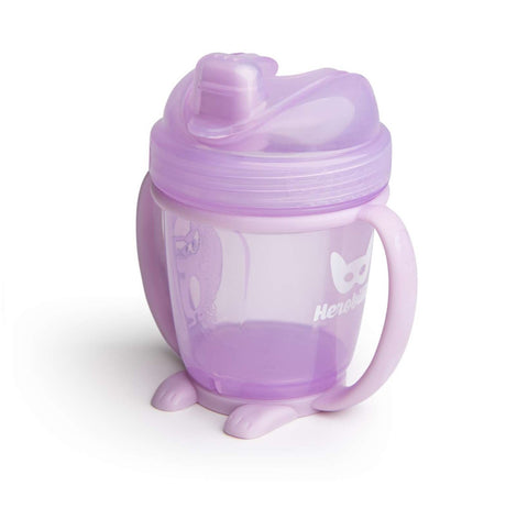 Sippy Cup con Cappuccio 140 ml Purple | HEROBILITY | RocketBaby.it