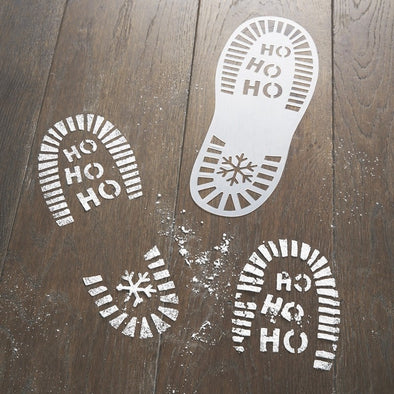 Stencils Festive Santa Foot Print | GINGER RAY | RocketBaby.it