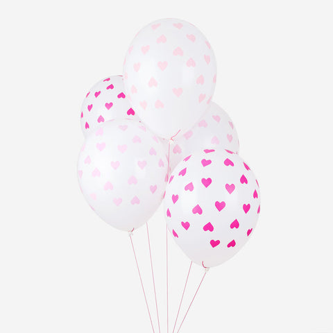 5 Palloncini Gonfiabili Pink Hearts | MY LITTLE DAY | RocketBaby.it