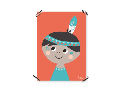 Poster piccolo Indiano | JULICA | RocketBaby.it