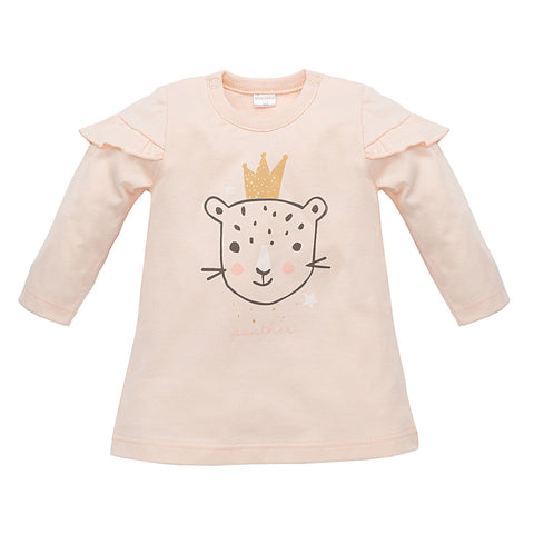 Vestito Maniche Lunghe Tunic Sweet Panther Rosa | PINOKIO | RocketBaby.it