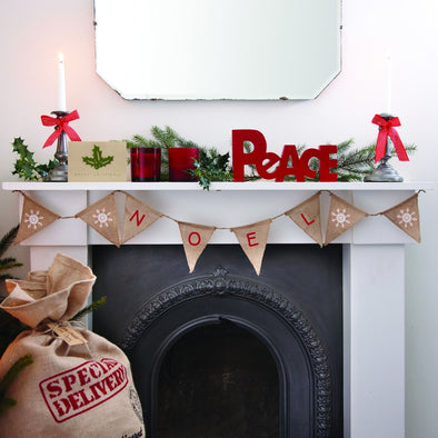 Ghirlanda Decorativa Hessian Noel Vintage | GINGER RAY | RocketBaby.it