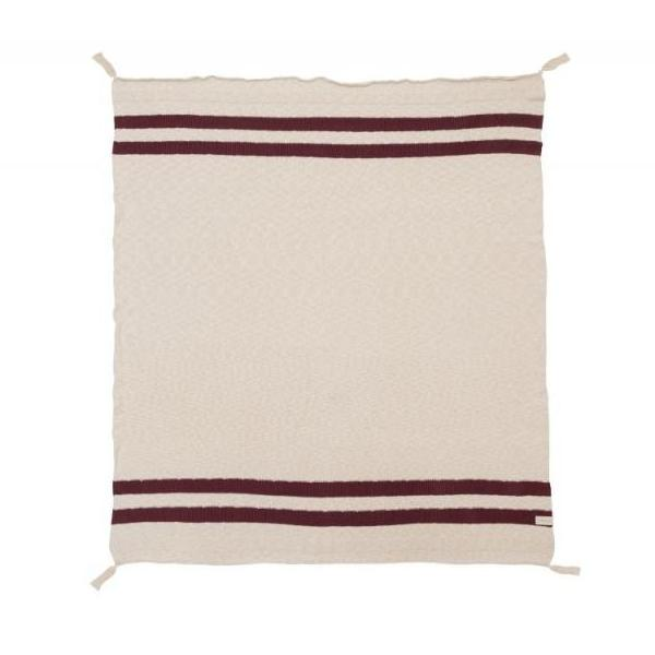 Coperta Stripes Natural e Burgundy | LORENA CANALS | RocketBaby.it