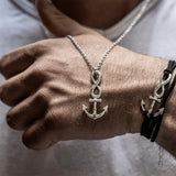 Infinity Anchor Necklace