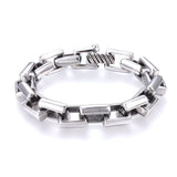 Silver Retro Box Chain Bracelet