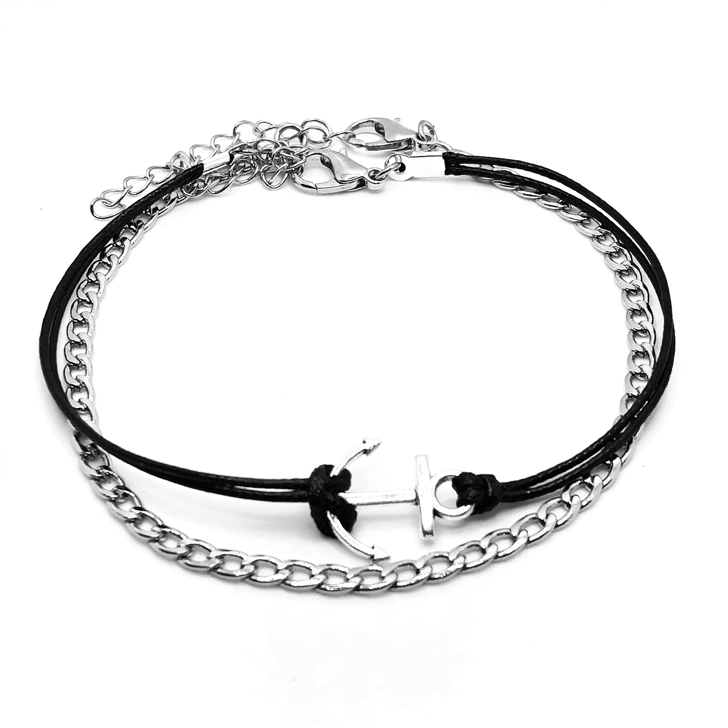 Anchor & Chain Anklet Set
