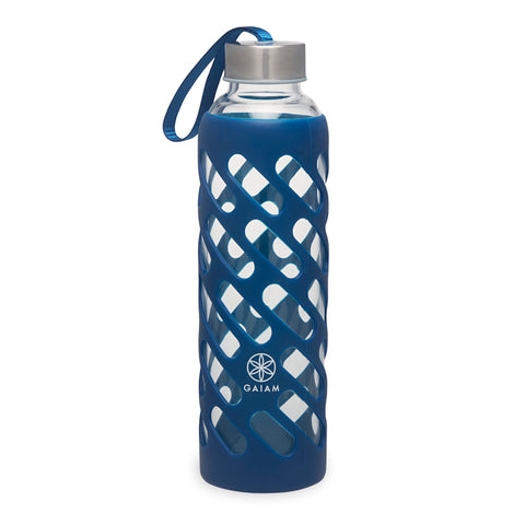 Water Bottle - Sure Grip Glass - Denim