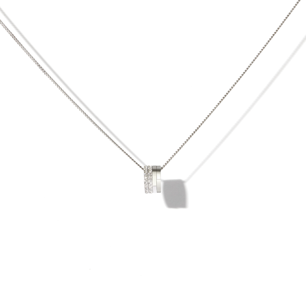 Antifer pendant in white gold