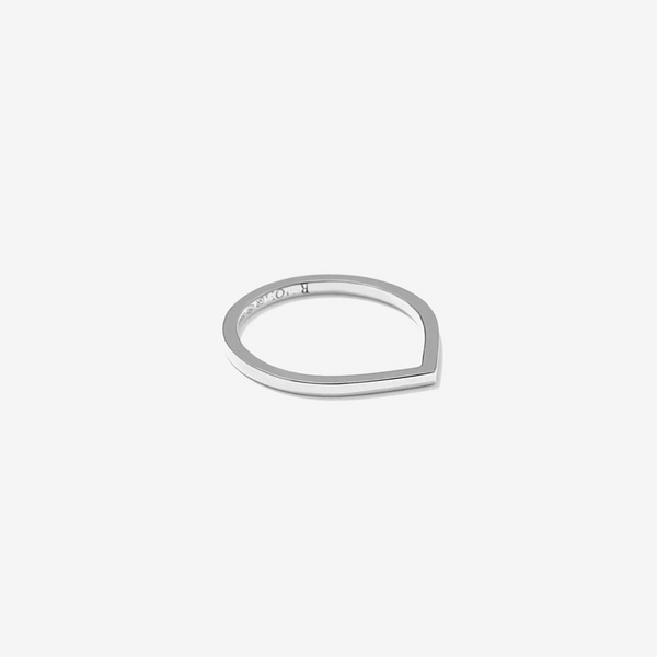 Antifer ring in white gold