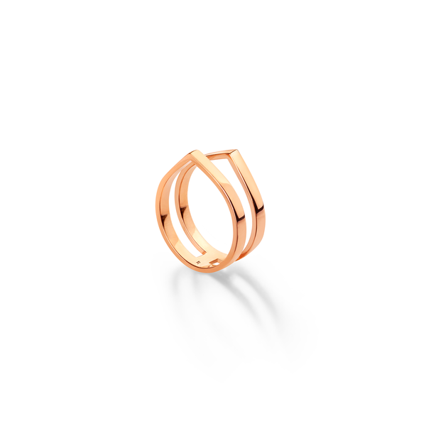 Antifer ring in pink gold