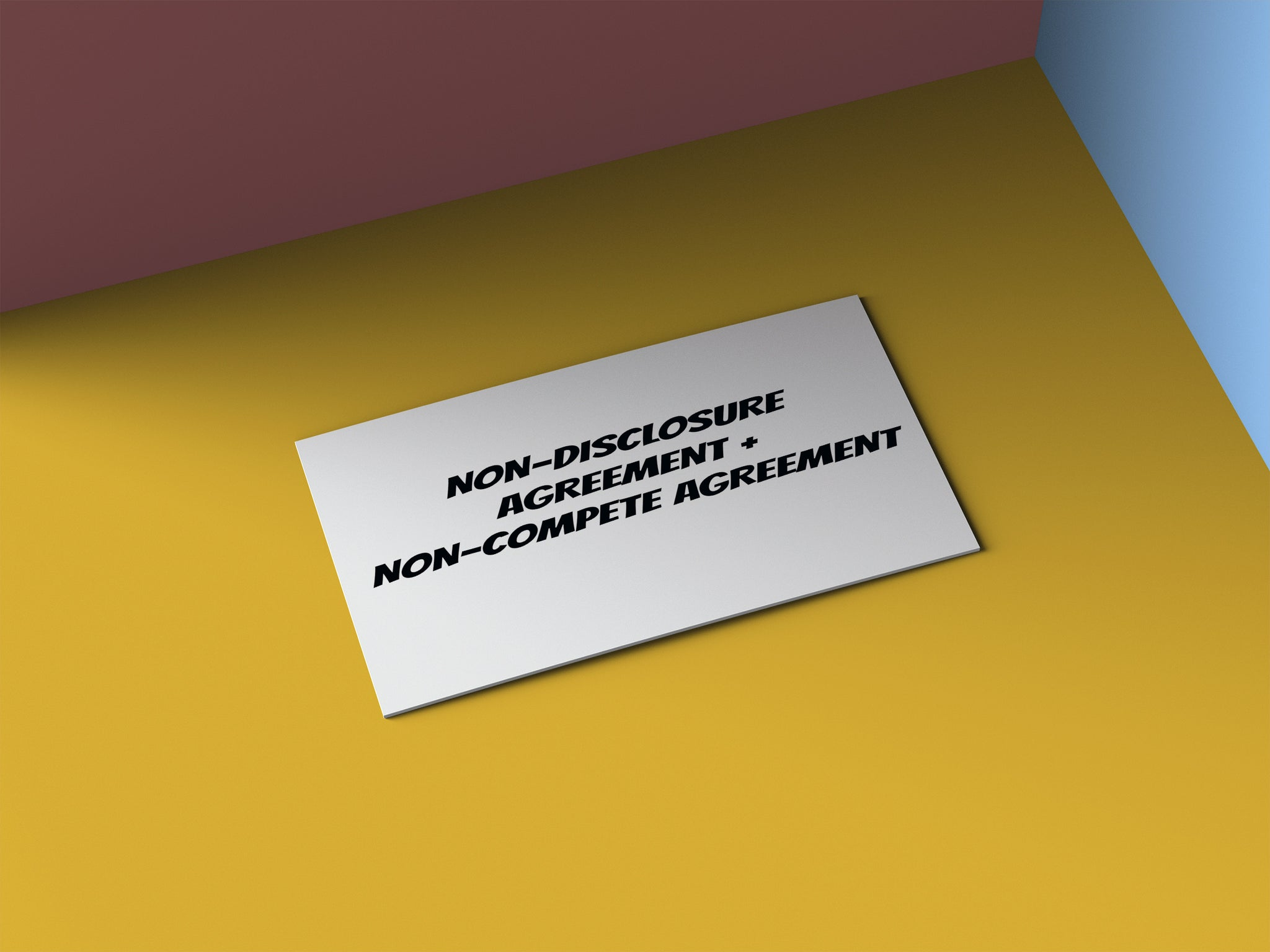 Non-Disclosure Agreement + Non-Compete Agreement